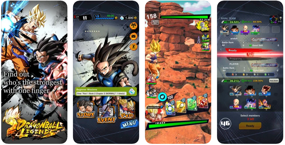 Dragon Ball Legends game screenshot